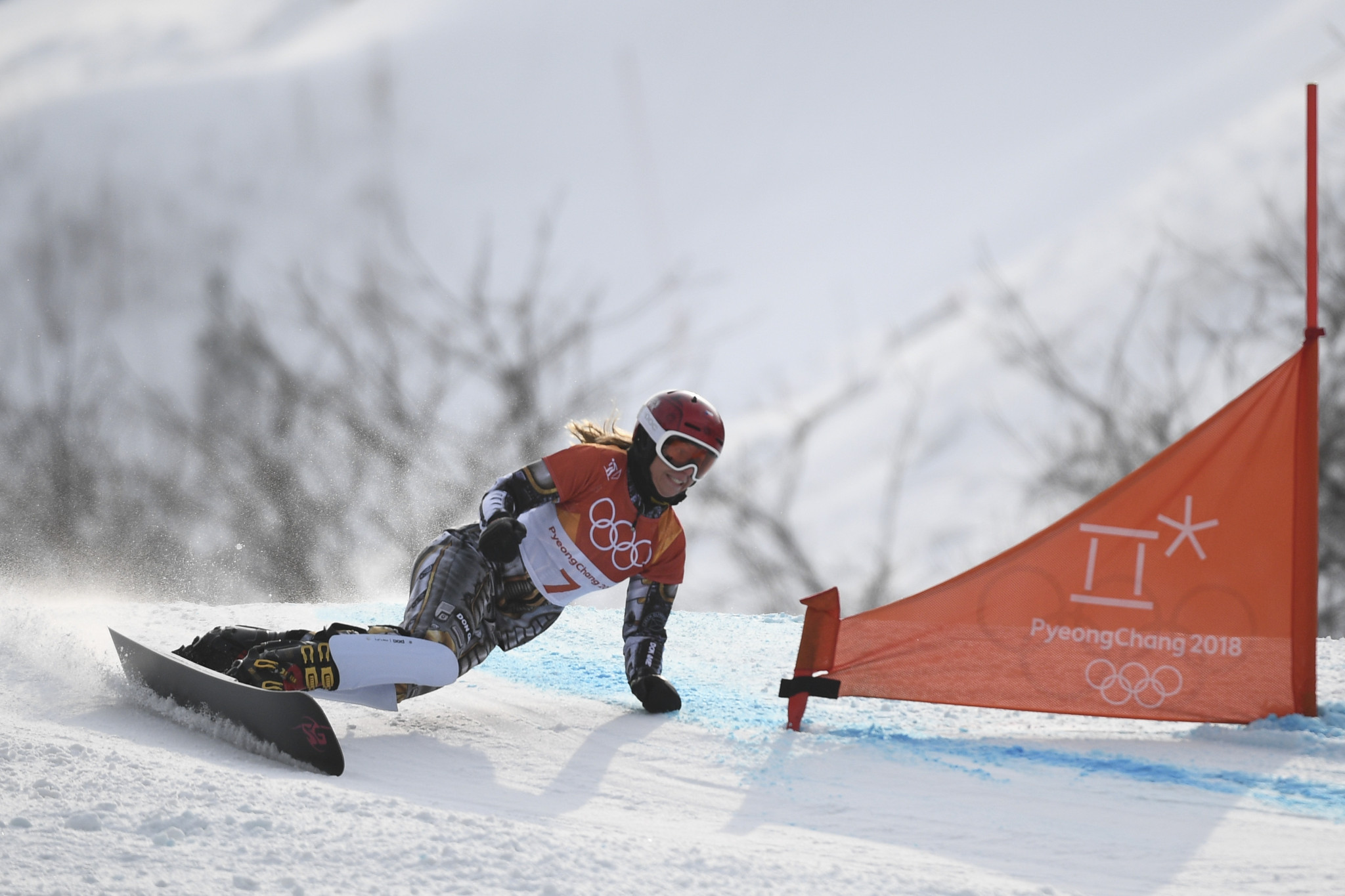 Ester Ledecka, en route to Olympic snowboard parallel giant slalom gold, has already secured this season's FIS World Cup title ©Getty Images