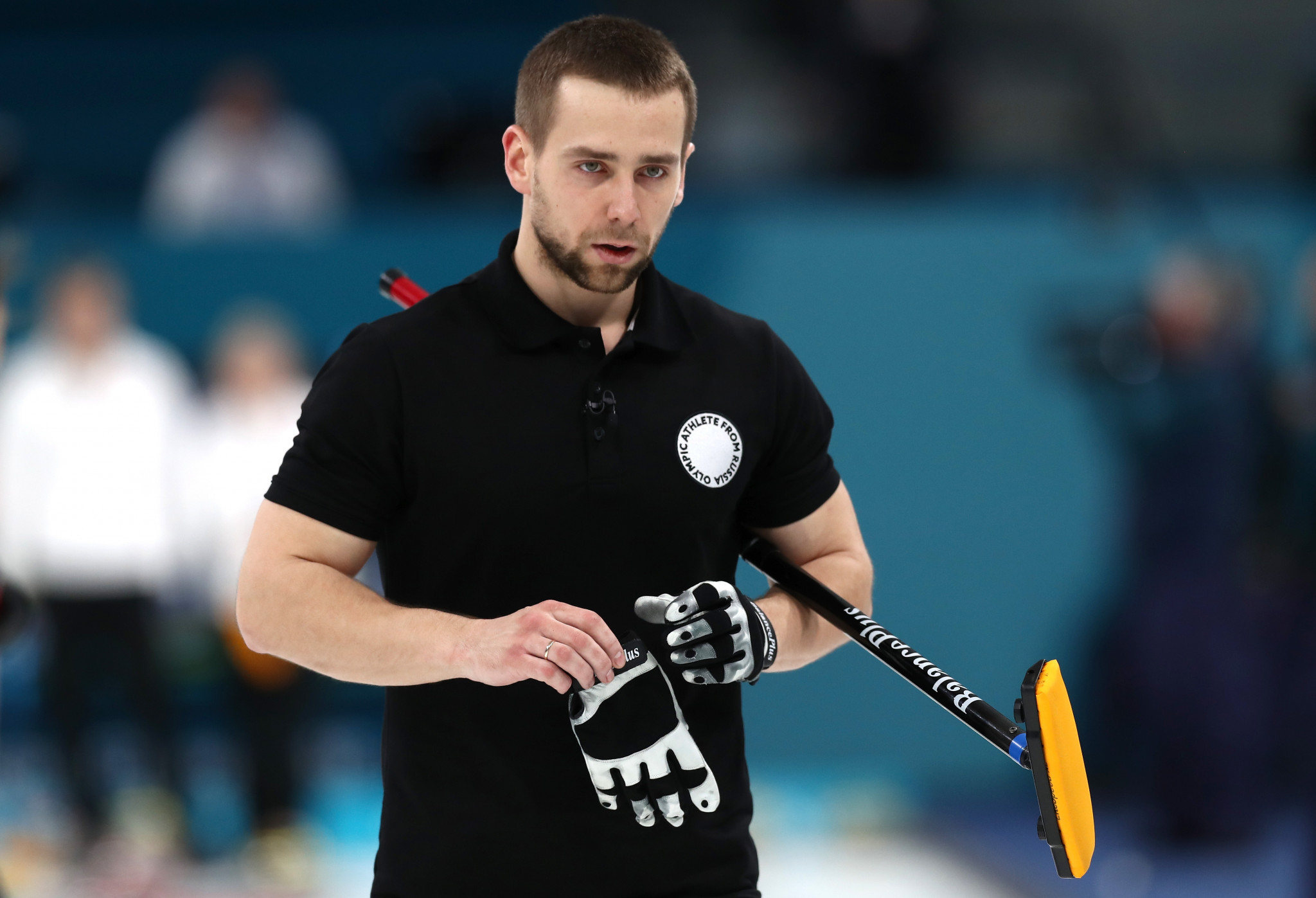 Curler Aleksandr Krushelnitckii was among two Russian athletes to fail drugs tests during Pyeongchang 2018 ©Getty Images