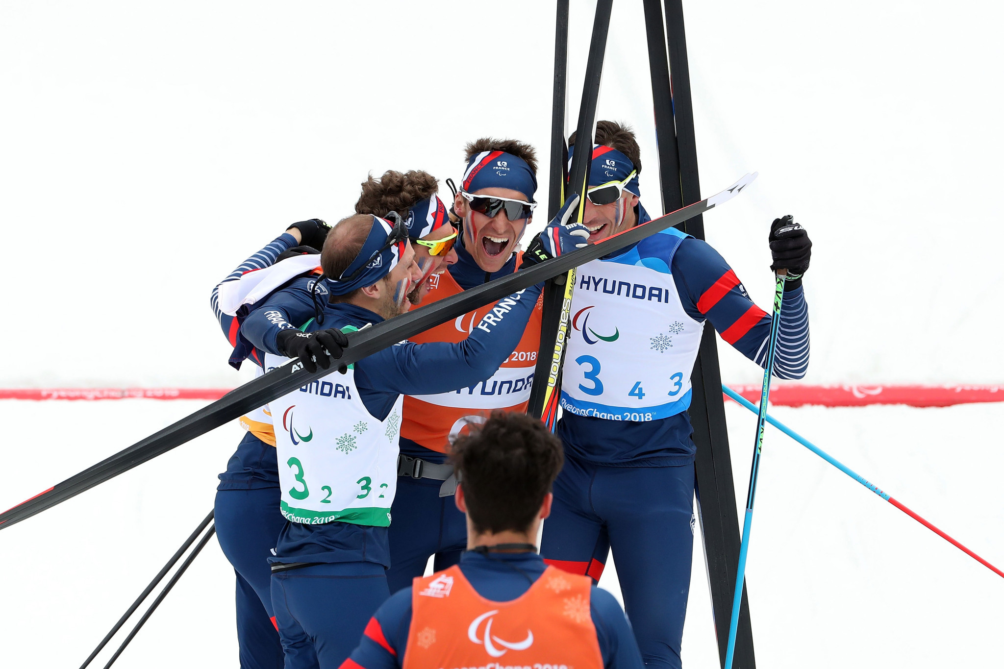 France came out on top in the 4x2.5km open relay ©Getty Images