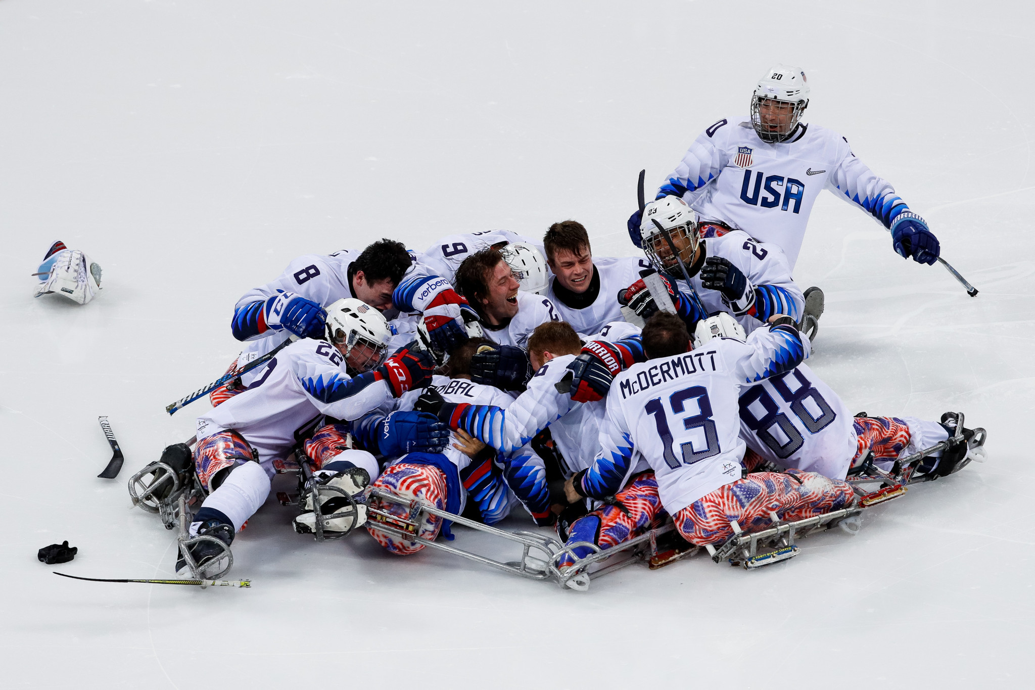 United States mount incredible comeback to beat Canada in Pyeongchang 2018 Para-ice hockey final