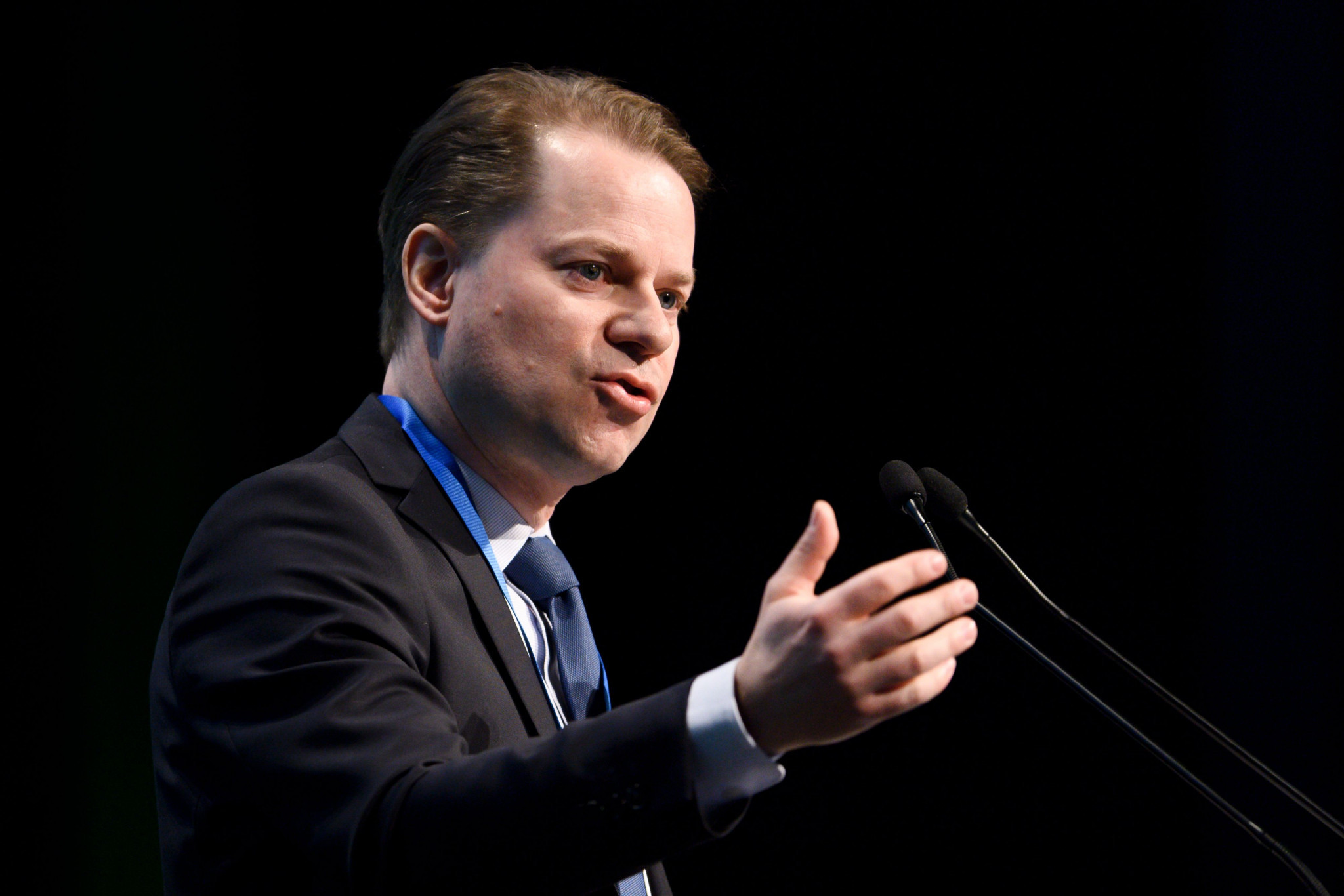 WADA director general Olivier Niggli spoke about the fall in the WADA research budget ©WADA
