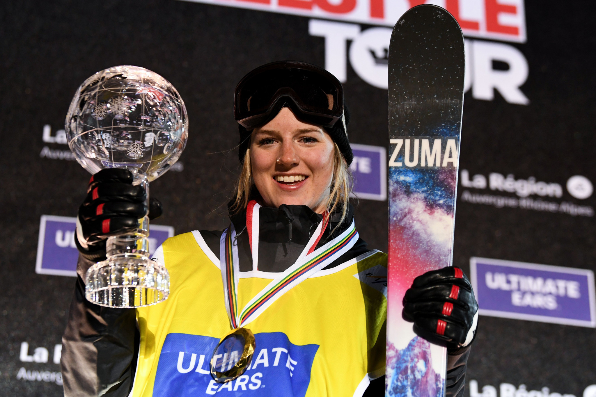 Sharpe and Ferreira crowned as overall champions at FIS Ski Halfpipe World Cup