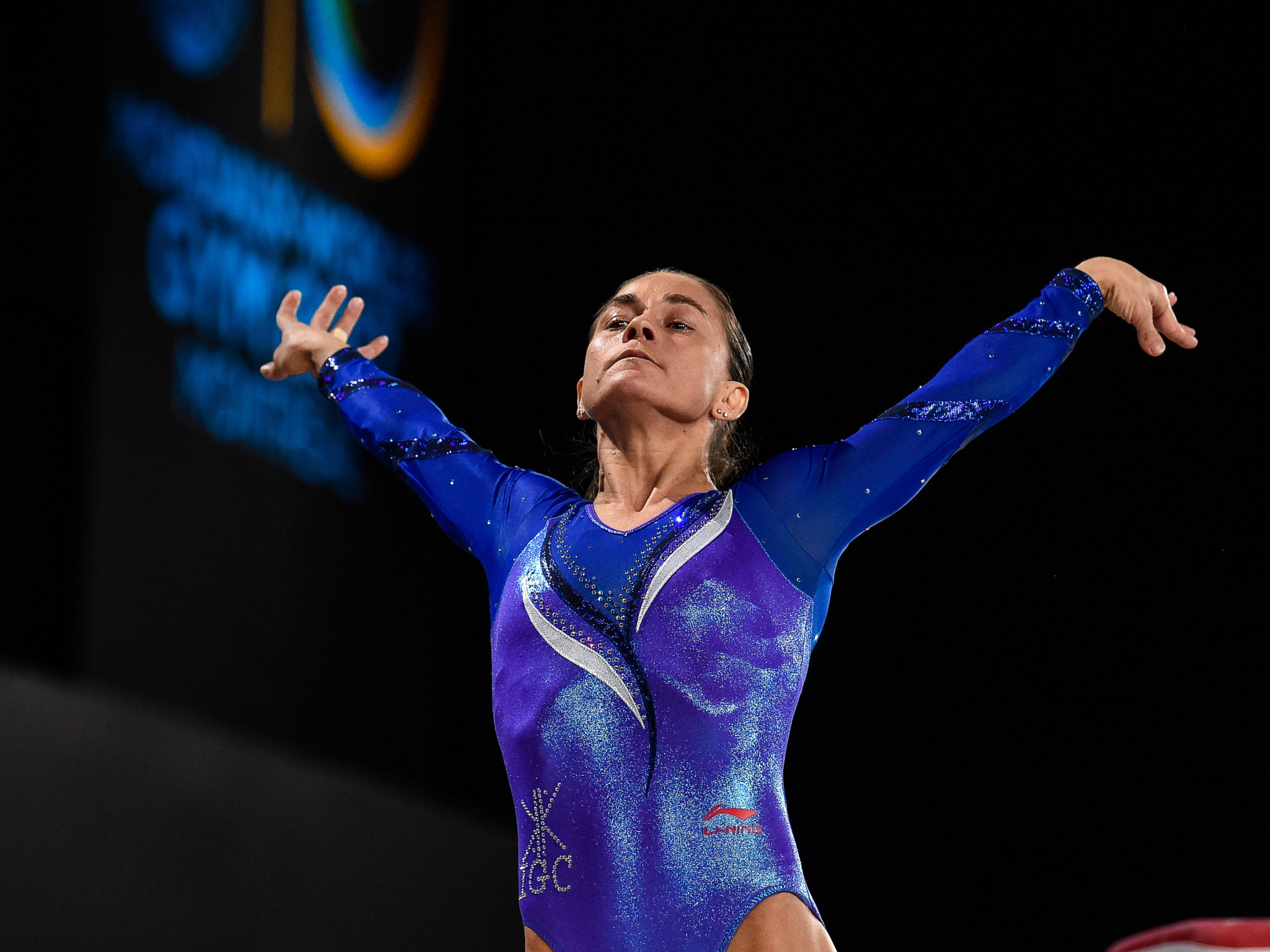 Oksana Chusovitina of Uzbekistan was among the winners today ©Getty Images