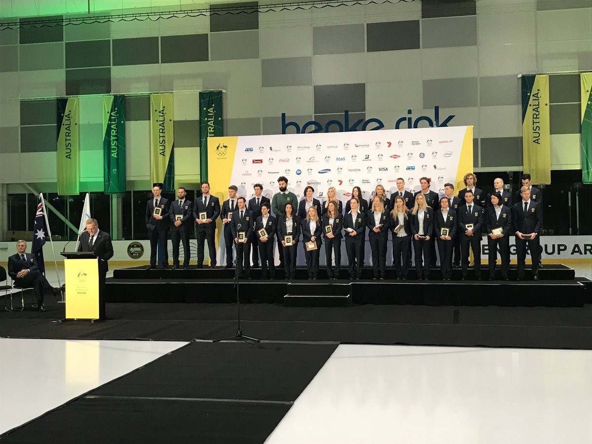 """Australian Olympians attend """"Welcome Home"""" ceremony to celebrate Pyeongchang 2018 success"""