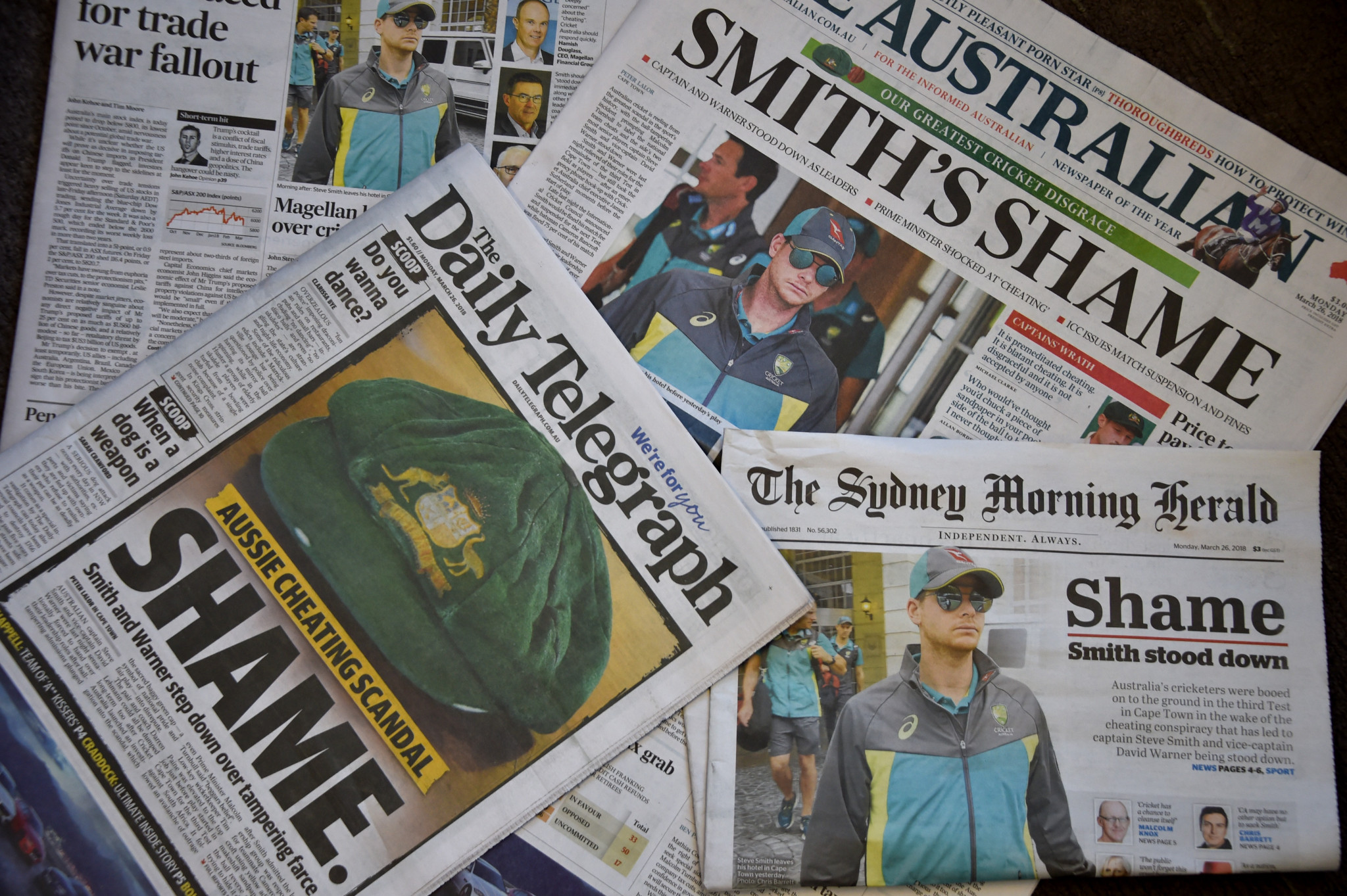 Australian media coverage slammed cricket captain Steve Smith after he admitted culpability in ball tampering ©Getty Images