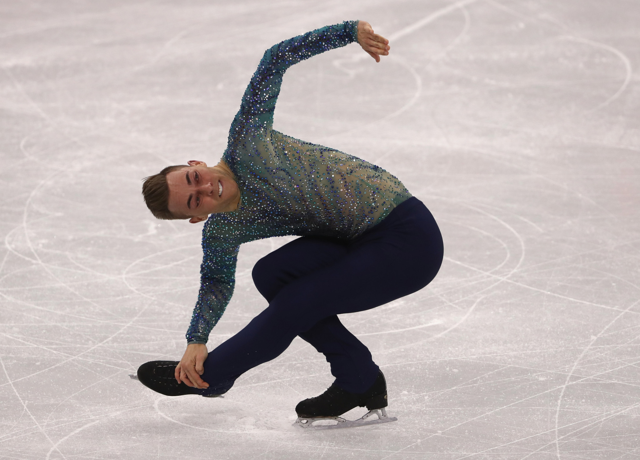 Figure kater Adam Rippon is among those expected to turn down an invitation to attend the White House because they do not want to meet US President Donald Trump ©Getty Images