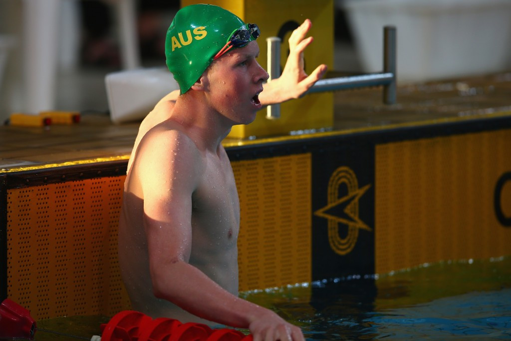 Australian world junior 200m individual medley champion Clyde Lewis began his Samoa 2015 campaign with gold and silver today
