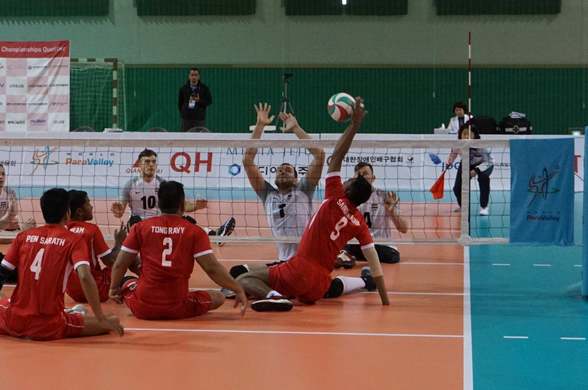 The match between Latvia and Cambodia was a  very close contest ©World ParaVolley/Facebook