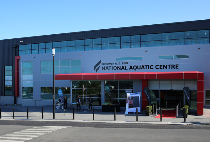 The competition is taking place at the Sir Owen G Glenn National Aquatic Centre ©Swimming NZ