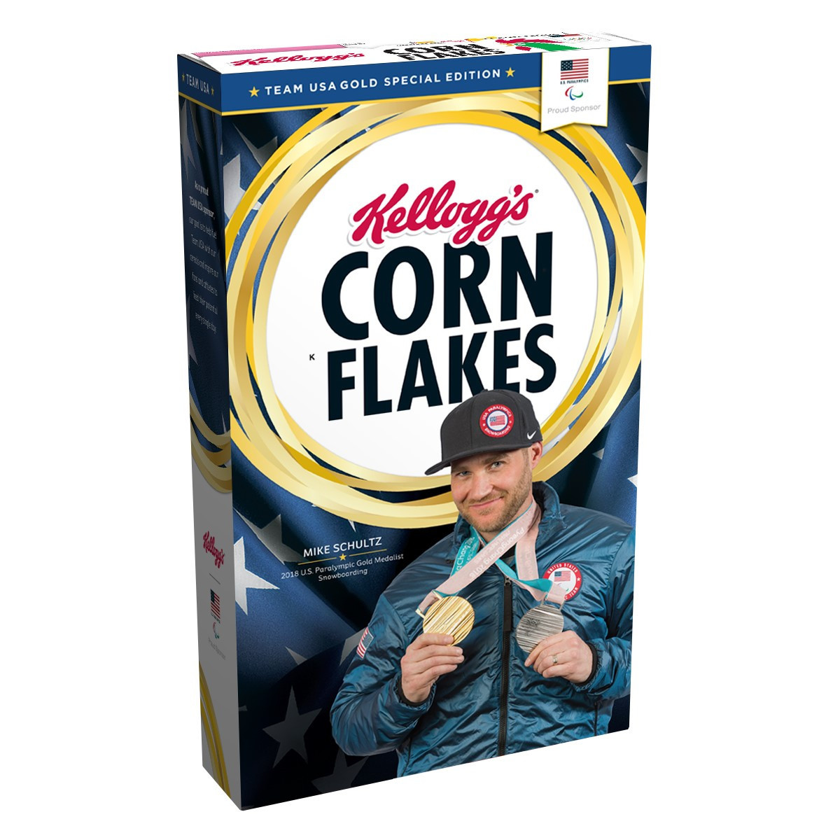 Pyeongchang 2018 champion Schultz to become first US Paralympian to feature on gold medal edition box of Kellogg's Corn Flakes