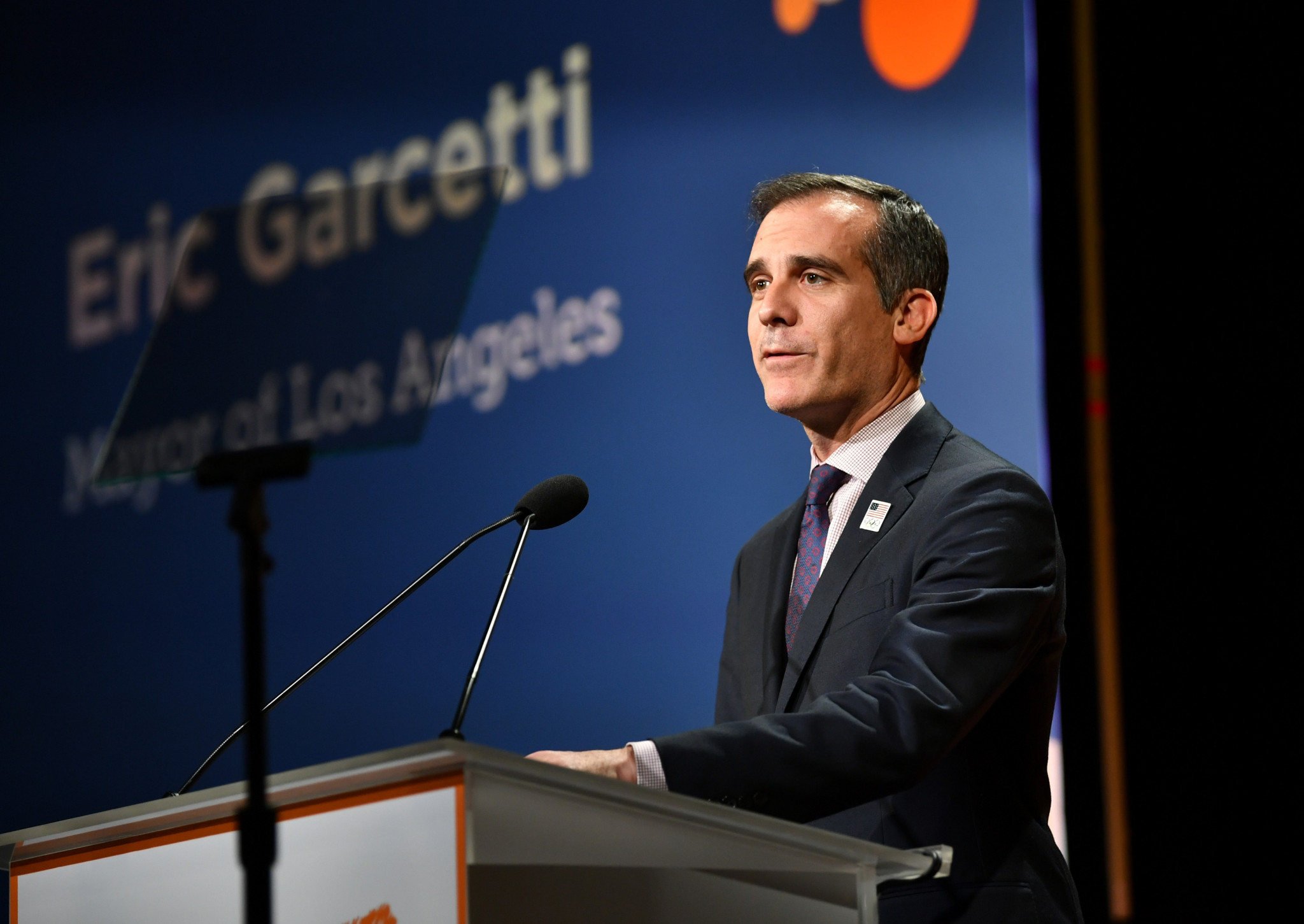 Los Angeles Mayor Eric Garcetti has claimed the donation was a extraordinary investment ©Getty Images