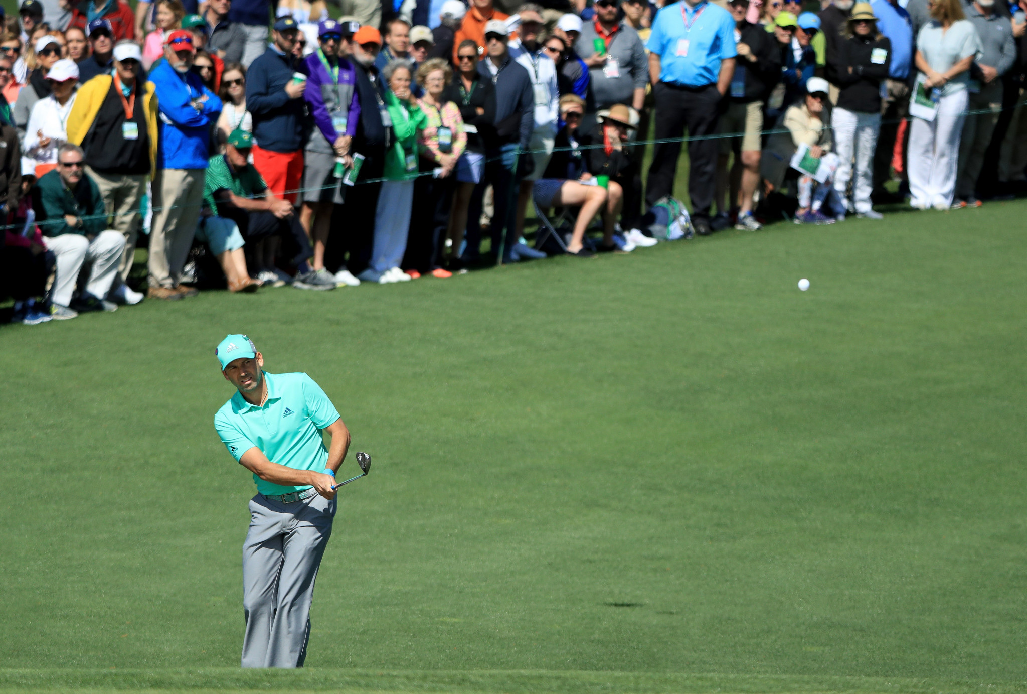 Sergio Garcia endured a nightmare 15th as he equalled the worst hole in Masters history ©Getty Images