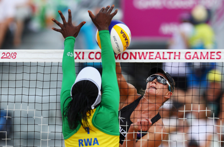 Rwanda's women competing in beach volleyball at the ongoing Gold Coast 2018 Commonwealth Games ©Getty Images