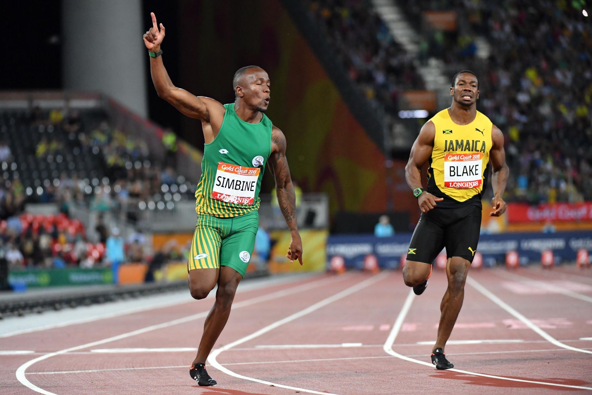 Simbine stuns Blake to win Commonwealth Games 100 metres