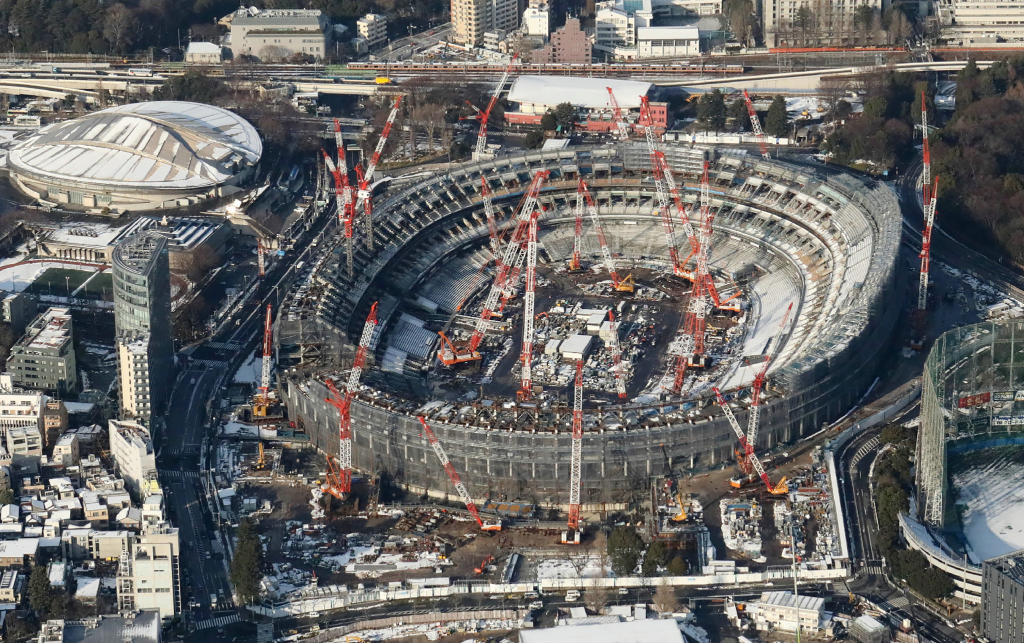 Tokyo's Olympic Stadium, where the Relay will conclude, is currently under construction ©Getty Images