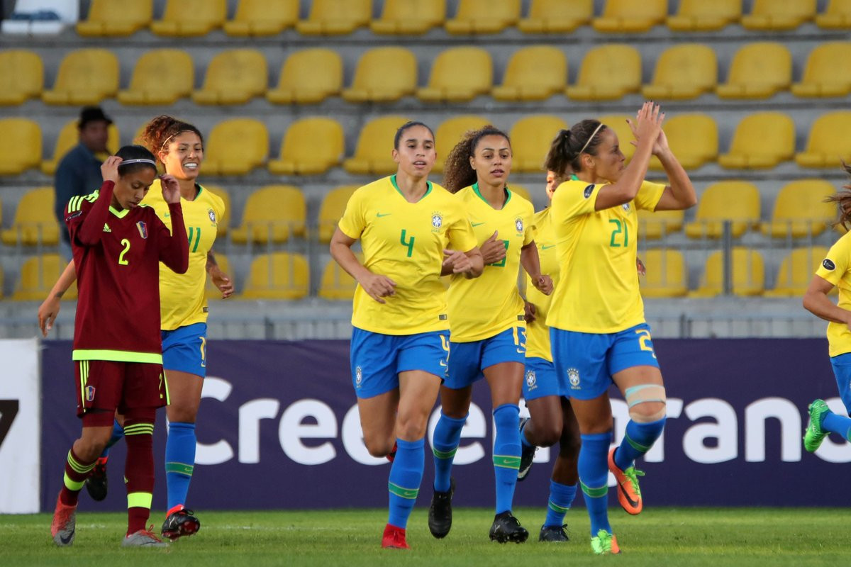 Defending champions Brazil qualified for the final phase of the Copa América Femenina after easing to a 4-0 win over Venezuela in Chile today ©Copa América Femenina Chile 2018/Twitter