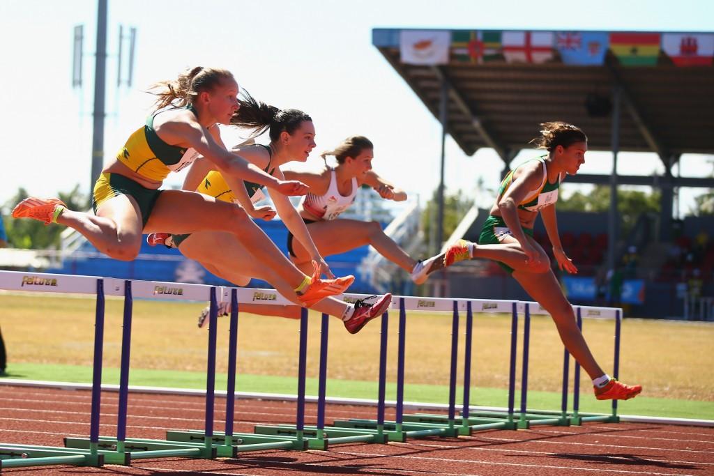 South African Taylon Bieldt won a thrilling girl's 100m hurdles race