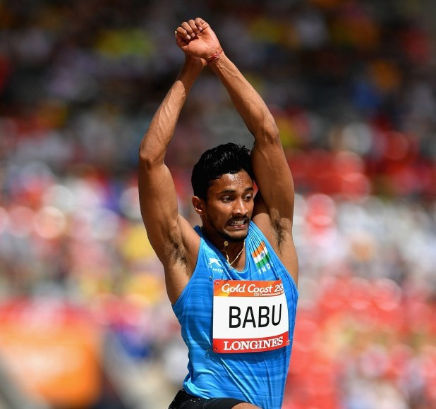 Rakesh Babu will not be able to compete in the triple jump final ©Getty Images