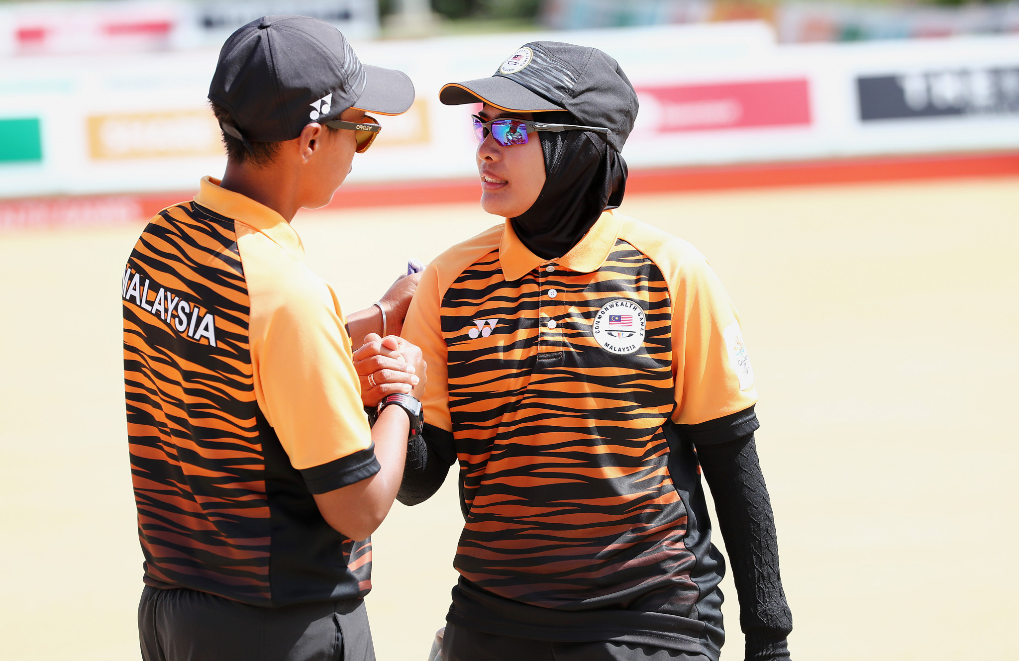 Malaysia battled-back to win the women's pairs title ©Getty Images