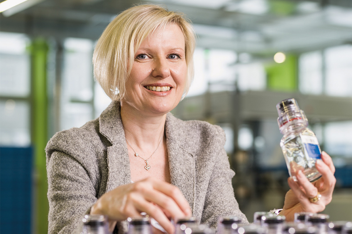 Andrea Berlinger Schwyter, President and chief executive of Berlinger, has revealed in a letter that the company will continue producing sample bottles for at least another 12 months ©Berlinger