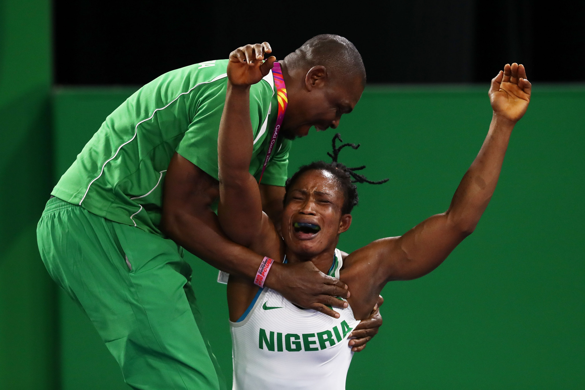 Nigeria dominated today's women's freestyle wrestling action with Blessing Oborududu winning the 68 kilograms title ©Getty Images