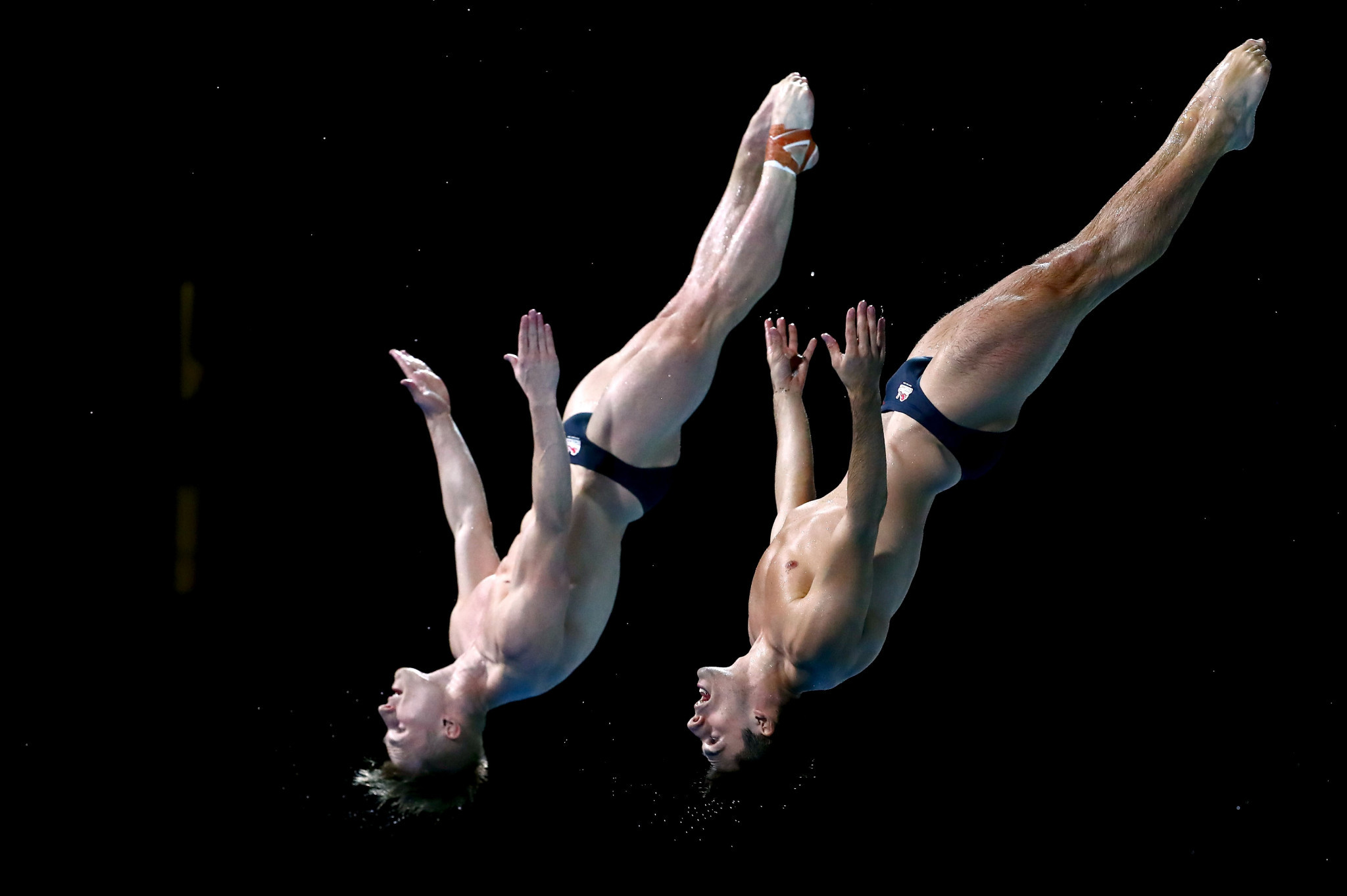 Chris Mears and Jack Laugher defended their synchronised springboard title title ©Getty Images