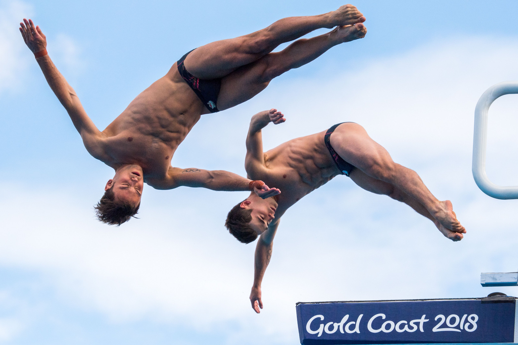 Tom Daley and Dan Goodfellow triumphed in the men's 10m platform final ©Getty Images