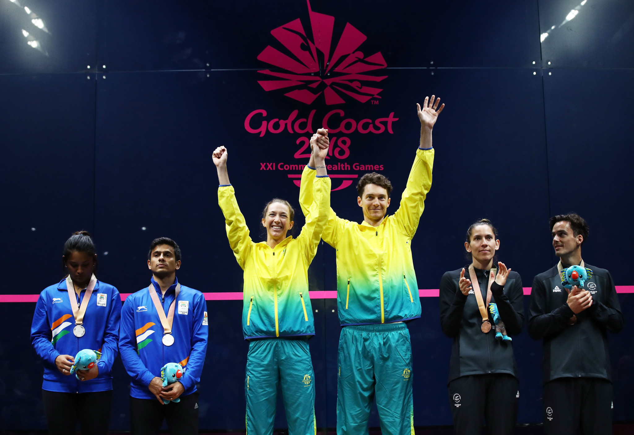 Australian duo claim mixed doubles squash gold medal at Gold Coast 2018