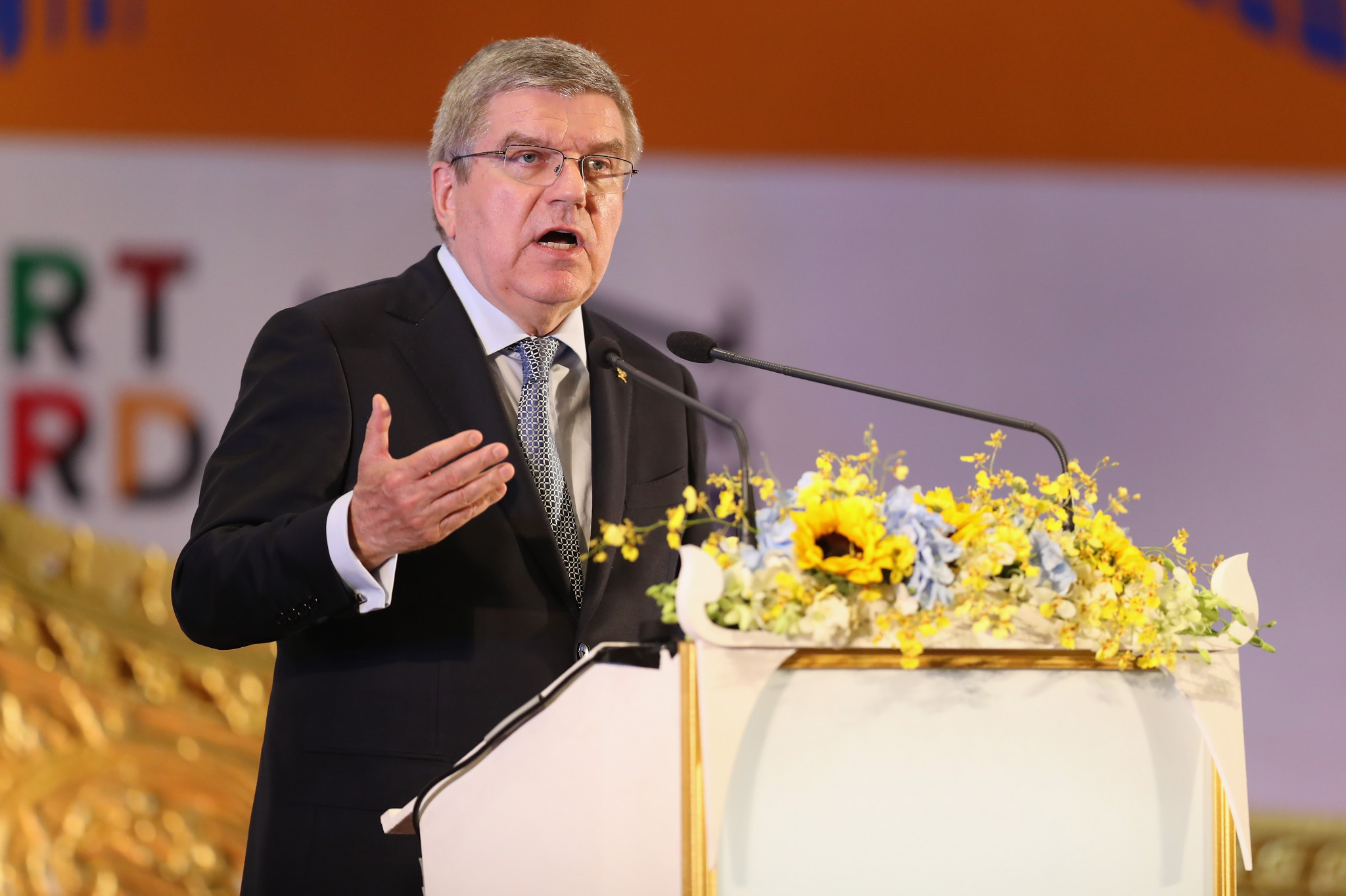 Thomas Bach has urged governing bodies to consider stripping quota places ©Getty Images