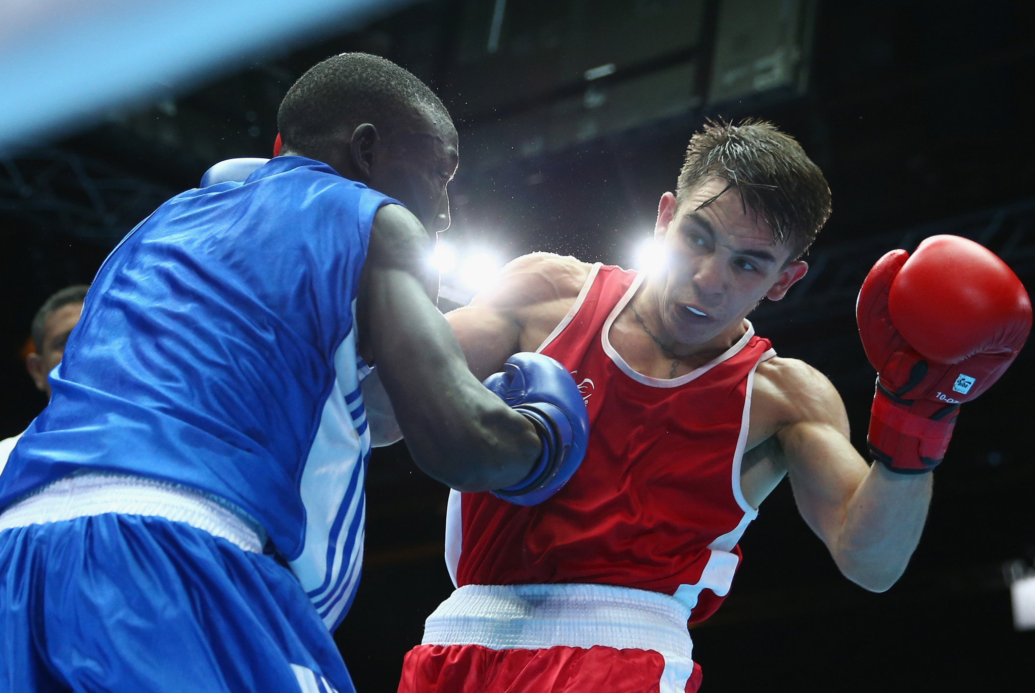 Boxer Bashir Nasir, left, is among the latest African athletes to go missing in Australia ©Getty Images