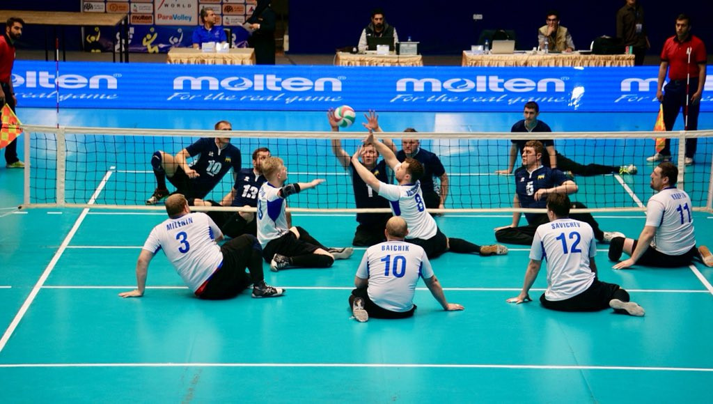 Russia, nearest, earned a place today in tomorrow's World Super 6 sitting volleyball final against hosts Iran in Tabriz ©World ParaVolley