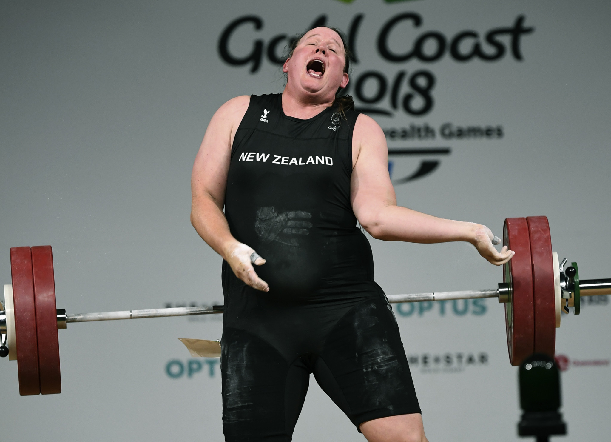 New Zealand's Laurel Hubbard was attempting to break the Commonwealth Games record in the over-90kg category when she suffered the horrific injury at Gold Coast 2018 ©Getty Images