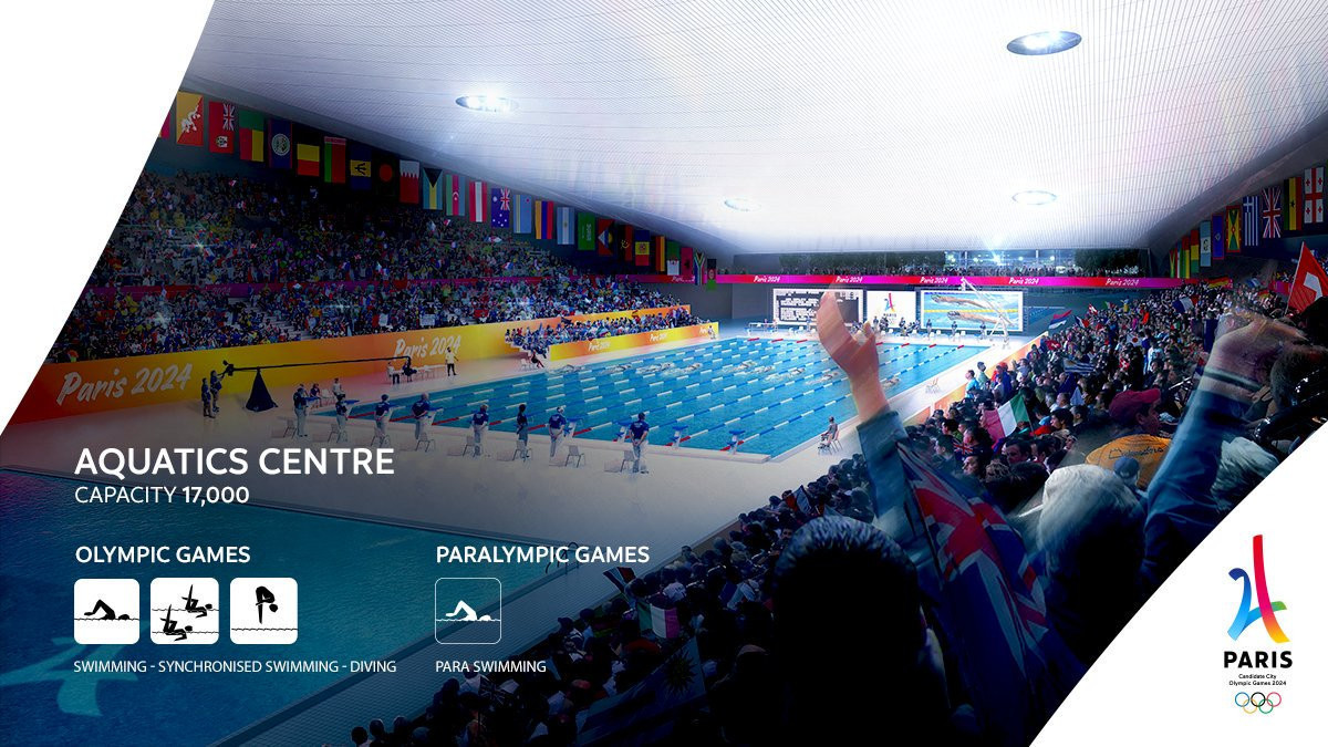 The Aquatics Centre in St Denis is due to be one of the only new venues being built for Paris 2024 ©Paris 2024