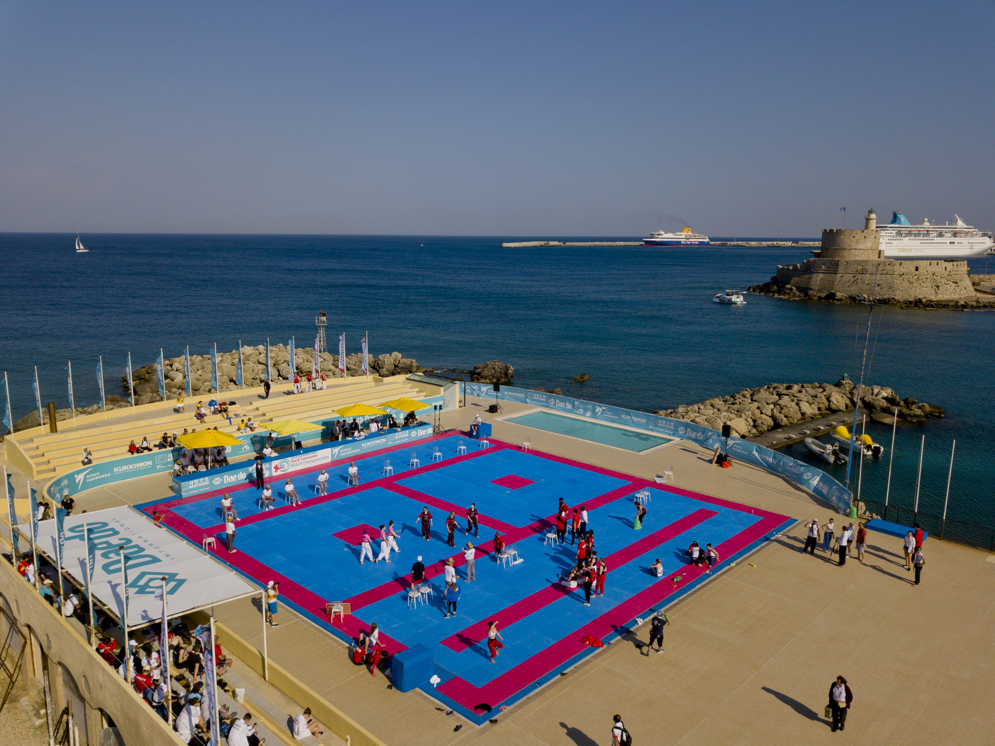The competition is taking place on the picturesque Greek island of Rhodes ©World Taekwondo