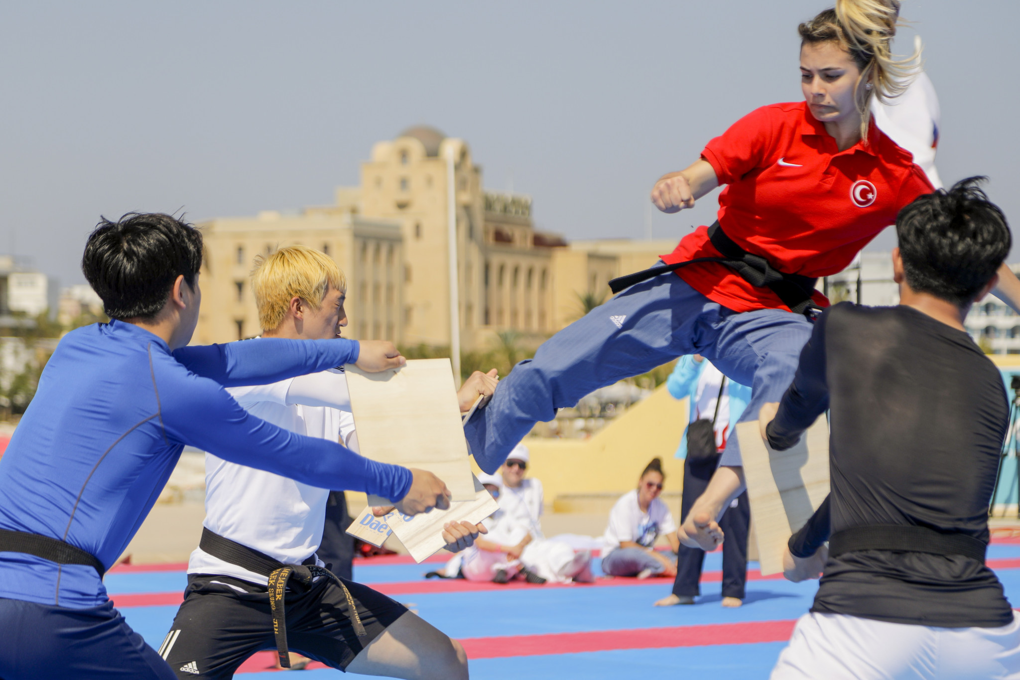 The World Taekwondo Beach Championships is being broadcast live on the Olympic Channel ©World Taekwondo