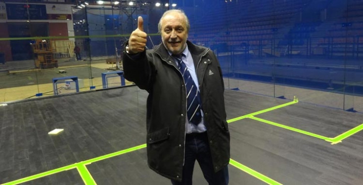 WSF President Jacques Fontaine believes China's hosting of this year's Women's World Team Championship will help squash's Olympic bid ©ASB Squash Courts