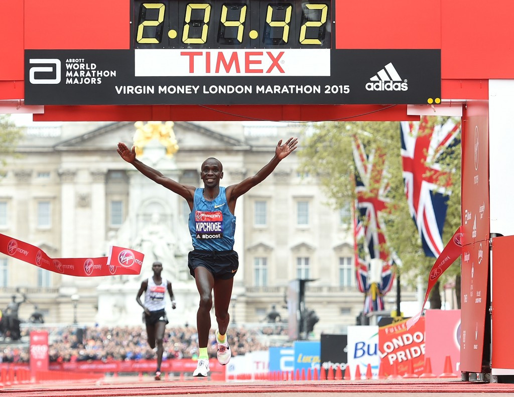 Kenya's Eliud Kipchoge defied the pre-race predictions by claiming his first London Marathon title ©Getty Images