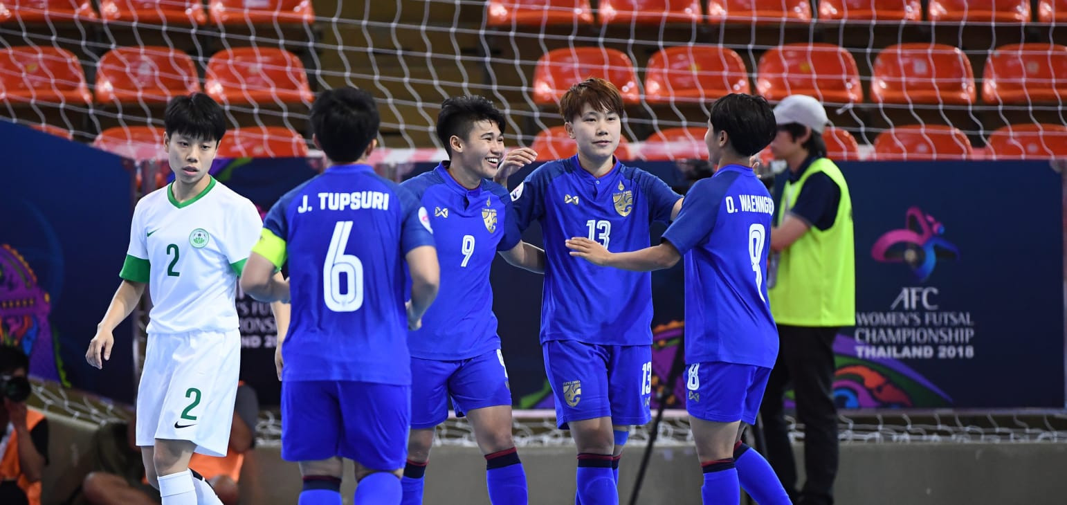 Thailand thrashed Macau 15-0 on the opening day in Bangkok ©AFC