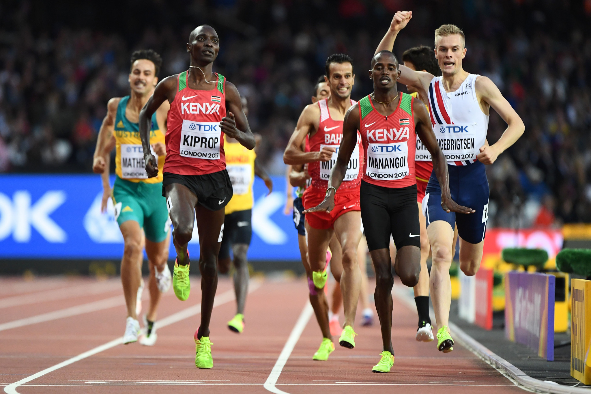 Asbel Kiprop pictured racing at last year's World Championships in London ©Getty Images