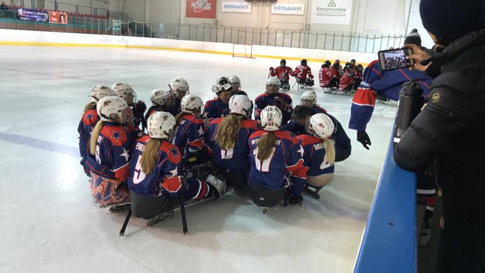 United States emerged as victors over Canada ©USA Women's Sled Hockey team