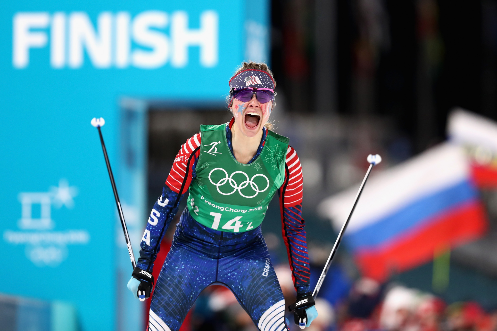 Cross-country skier Jessie Diggins has received the Beck International Award at United States Ski and Snowboard's annual Congress in Park City ©Getty Images