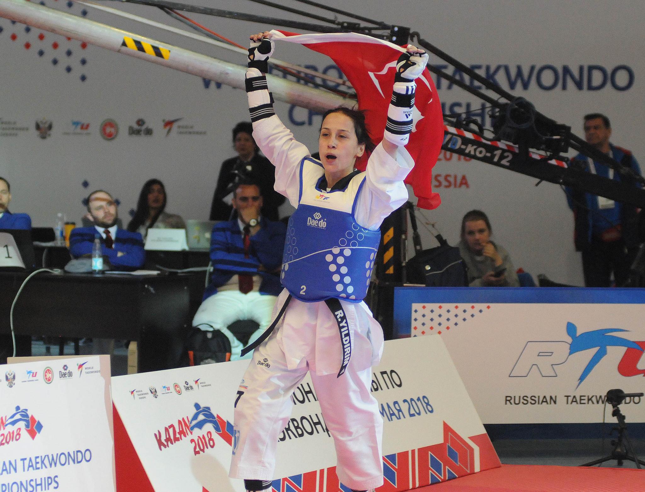 Turkey's Rukiye Yildirim claimed the women's under-46 kilograms gold medal on the opening day of the European Taekwondo Championships in Kazan ©World Taekwondo Europe/Murat Tarhan