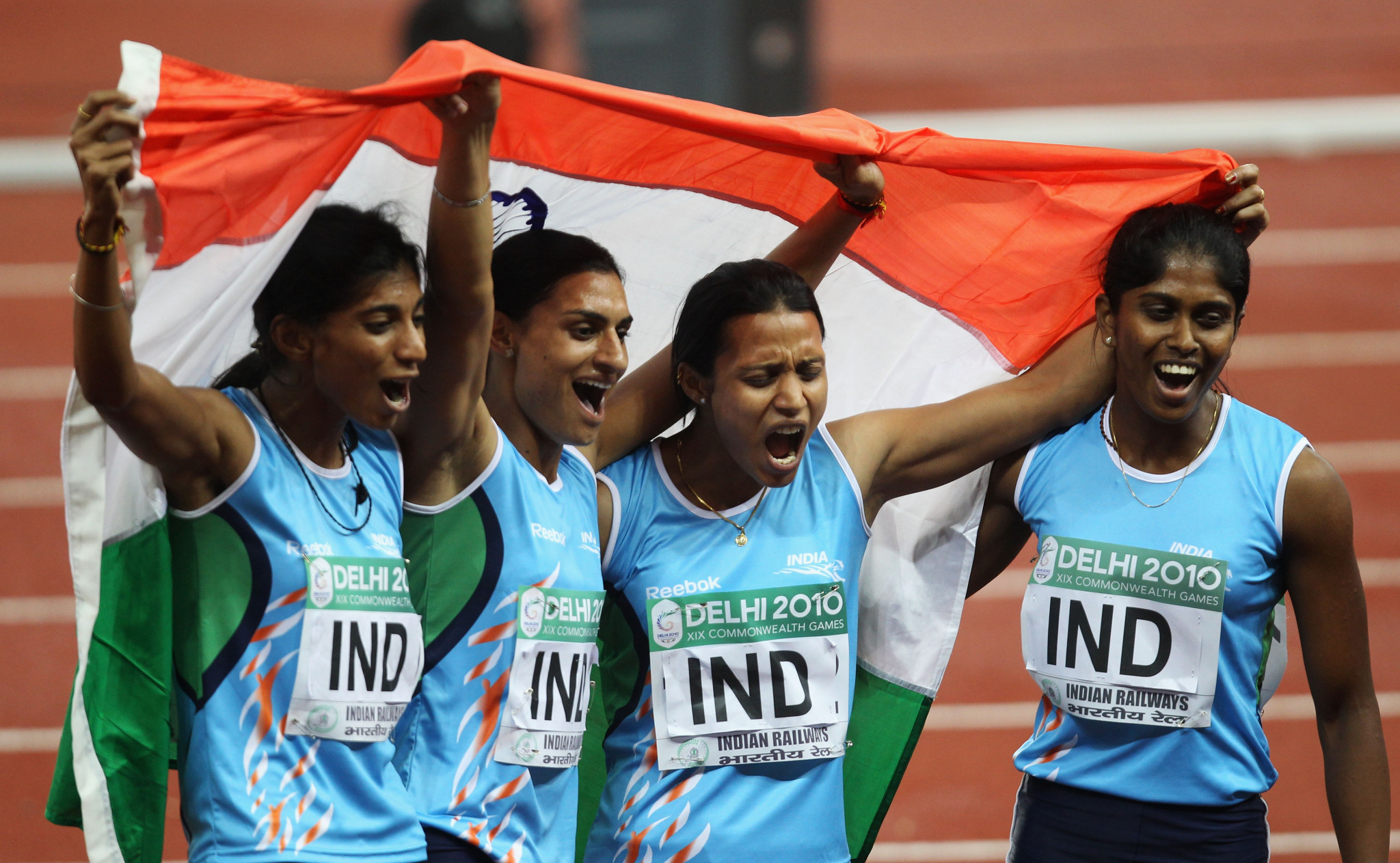 Three members of the gold medal winning 4x 400m relay team at the Delhi 2010 Commonwealth Games have since failed drug tests ©Getty Images