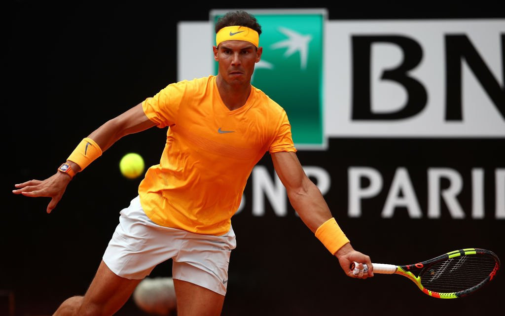 Nadal marches on at Italian Open