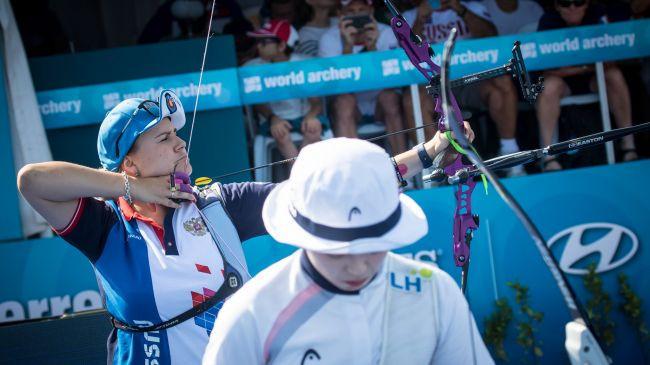 Ksenia Perova won the women's recurve final ©World Archery