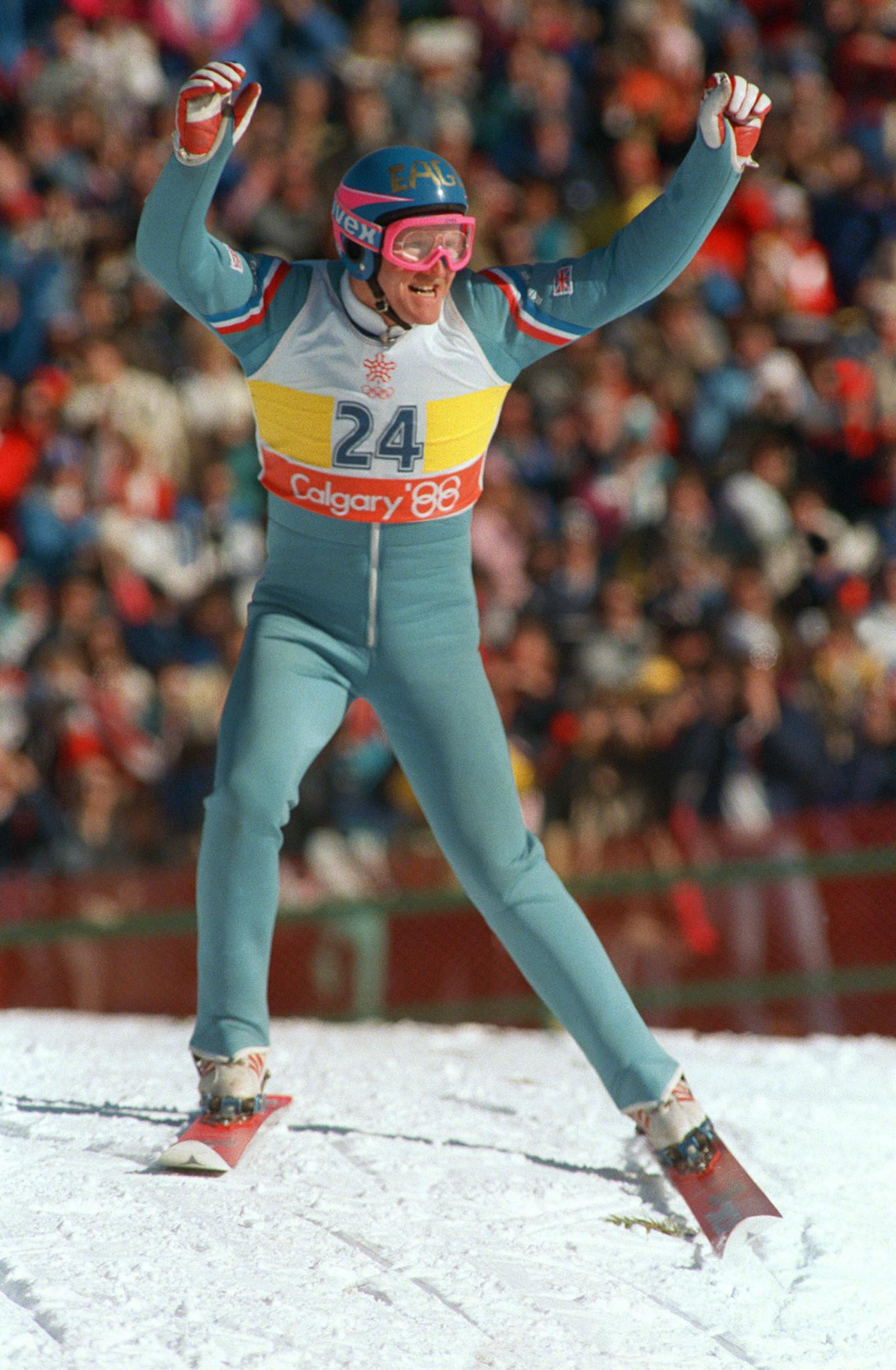 Britain's first-ever ski jumper Eddie