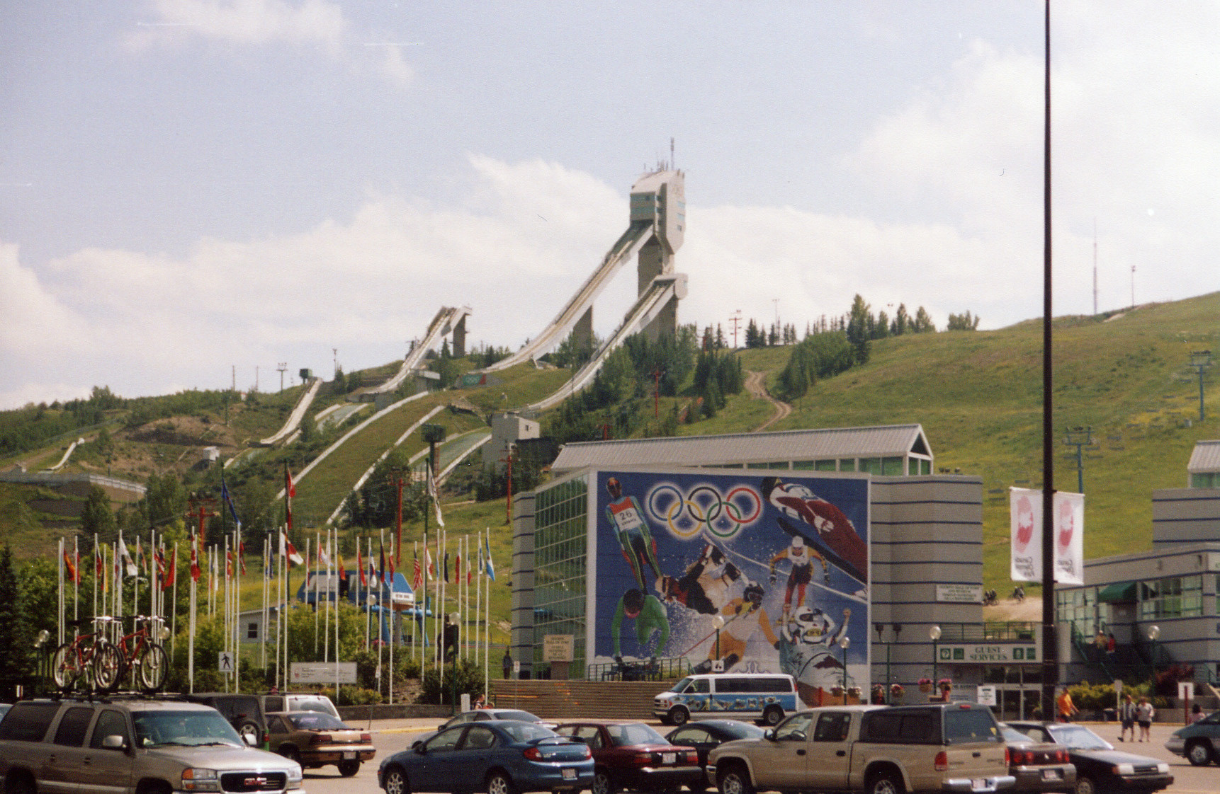 The ski jump facility in Calgary pictured in the summer of 2005 ©Wikimedia