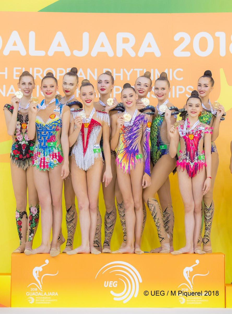 Russia claim double gold at European Rhythmic Gymnastics Championships