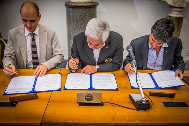 Taekwondo Humanitarian Foundation sign Memorandum of Understanding with FITA and Roma Capitale