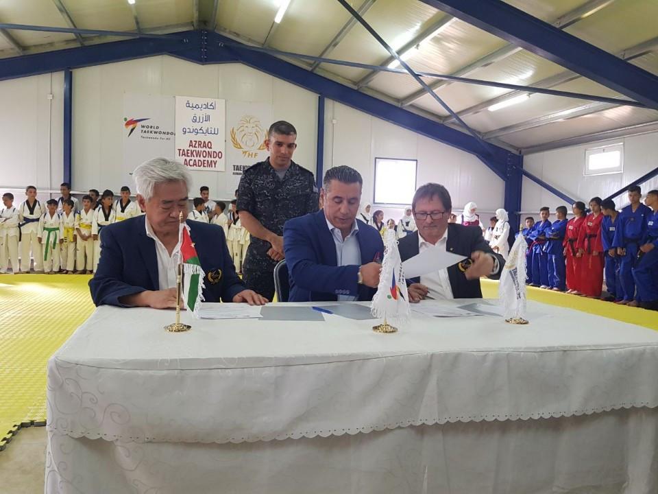 The Taekwondo Humanitarian Foundation recently opened an Academy in the Azraq refugee camp ©World Taekwondo